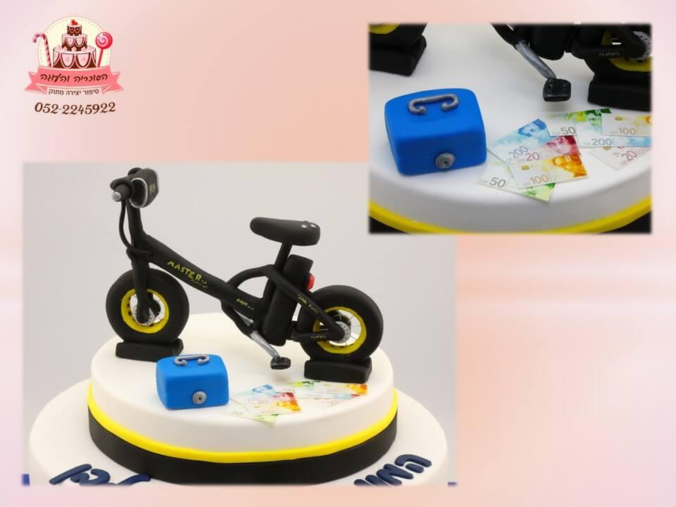עוגה מעוצבת אופני ביג פוט