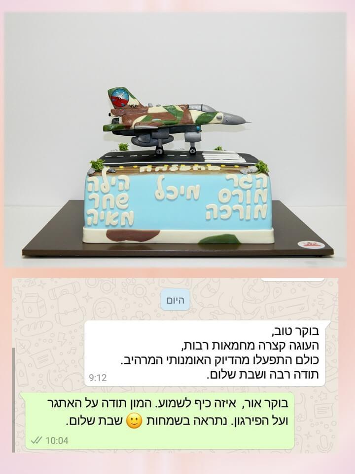 בוקר טוב, העוגה קצרה מחמאות רבות, כולם התפעלו מהדיוק האומנותי המרהיב. תודה רבה ושבת שלום