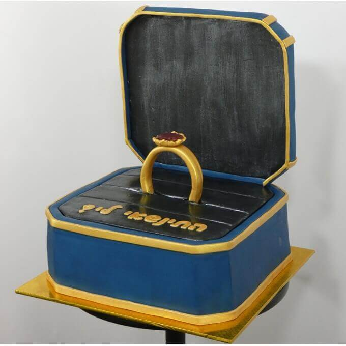 עוגה להצעת נישואין, עוגות מעוצבות לאירועים מיוחדים - דורית יחיאל