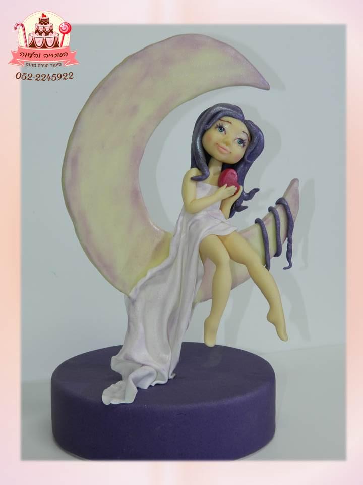טופר בעיצוב ילדת ירח