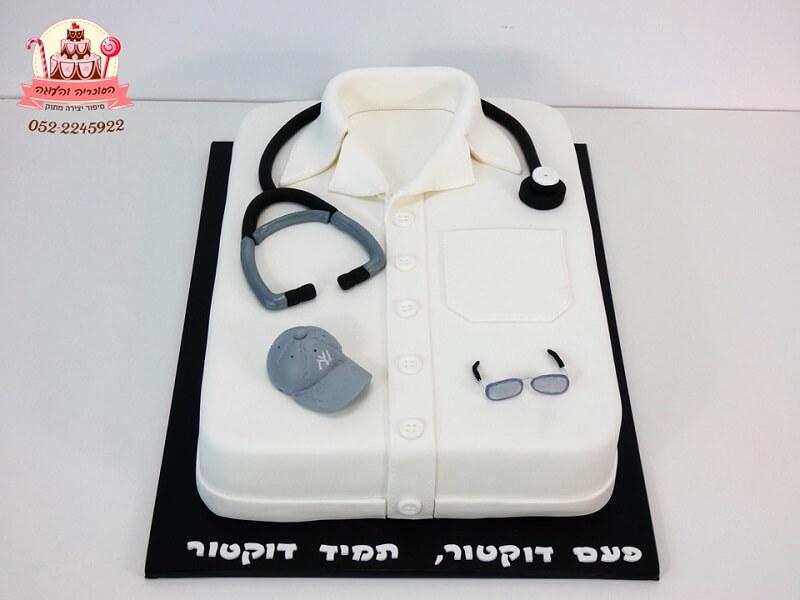 עוגה מעוצבת לרופא שפורש לאחר 30 שנות עבודה