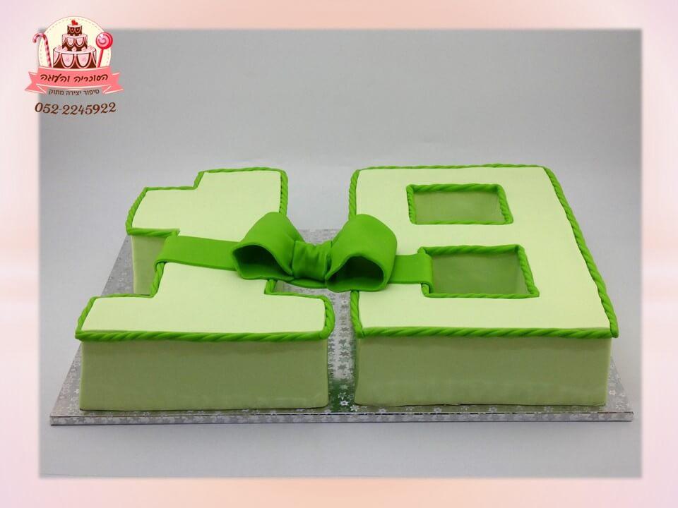 עוגה מעוצבת בצורת ספרות 18