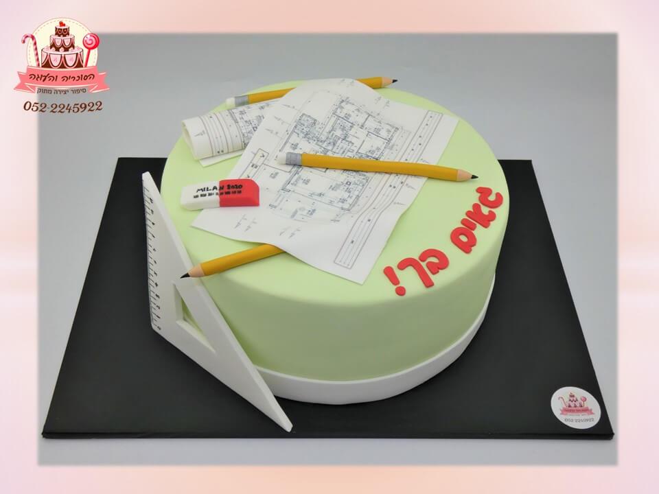 עוגה מעוצבת למהנדס בניין