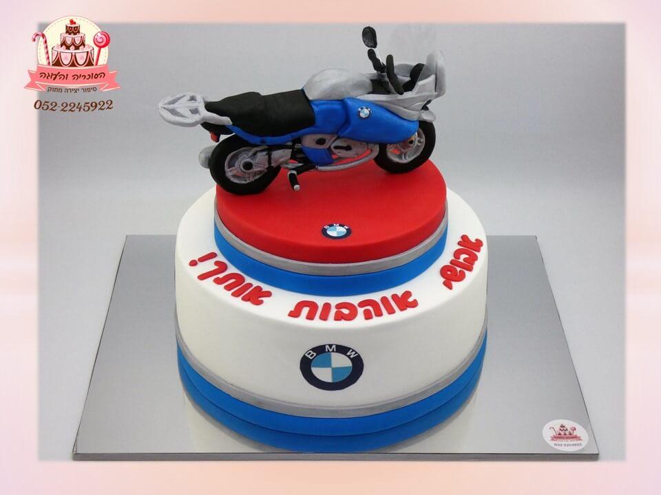 עוגה מעוצבת אופנוע BMW