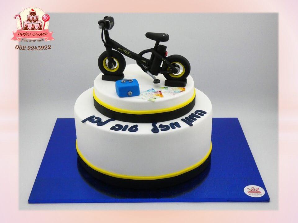 עוגת יום הולדת אופני ביג פוט