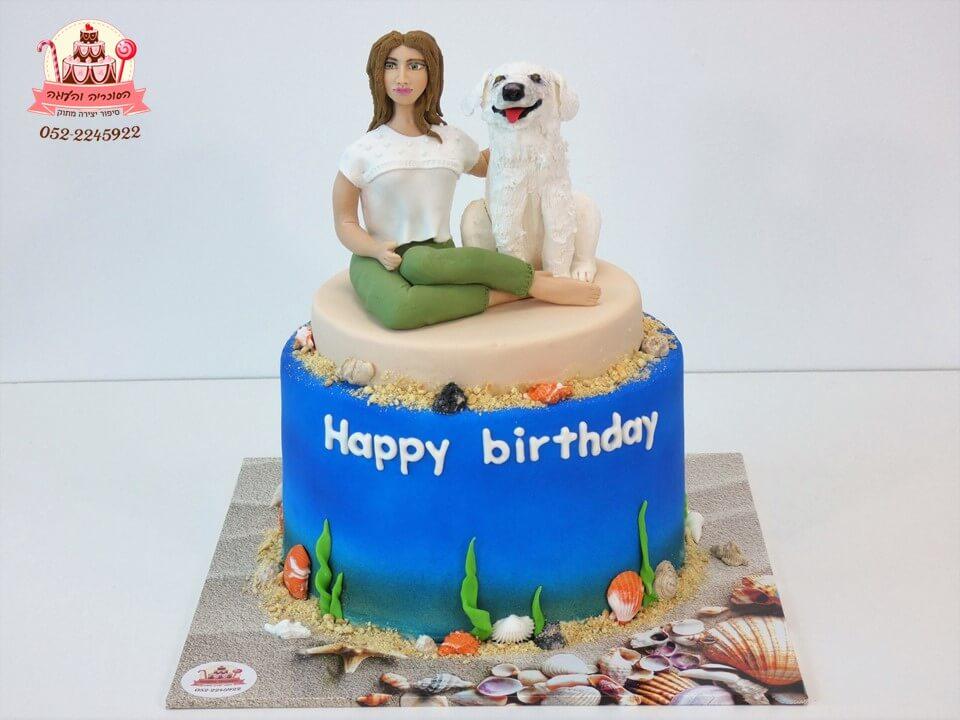 עוגה מעוצבת דמות אישה וכלה