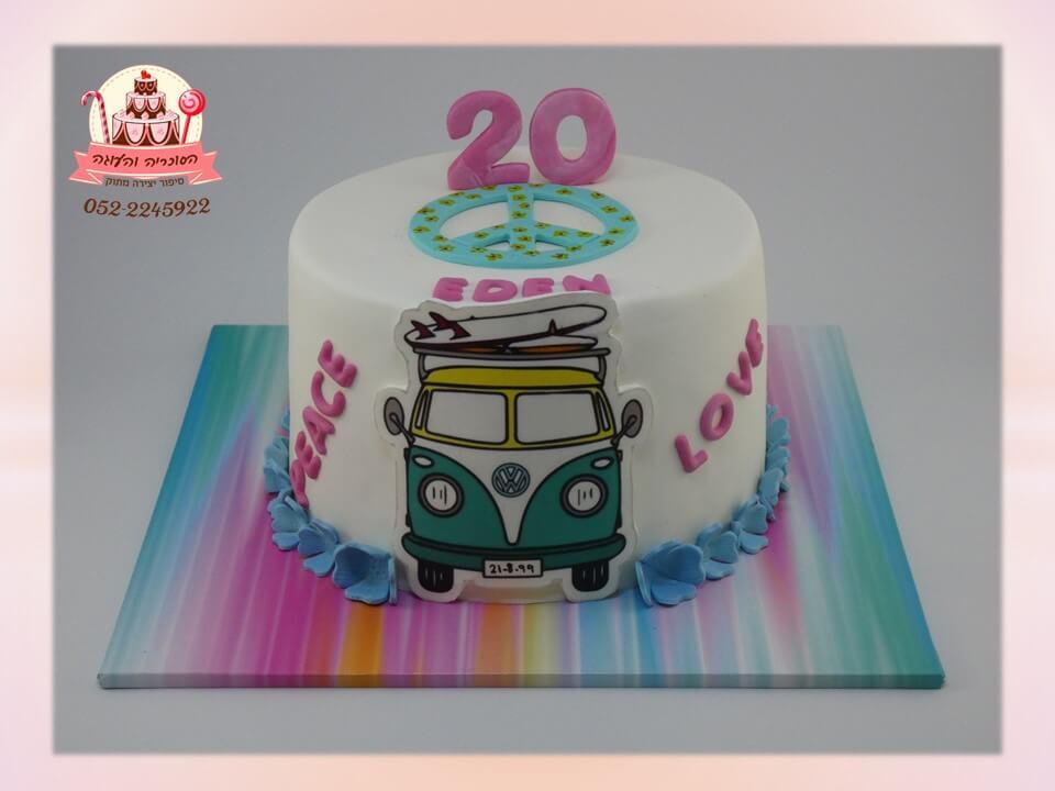 עוגת יום הולדת 20 וואן בעיצוב פריקי