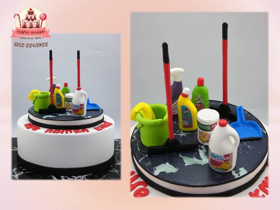 עוגה ליום הולדת למכורה לניקיון