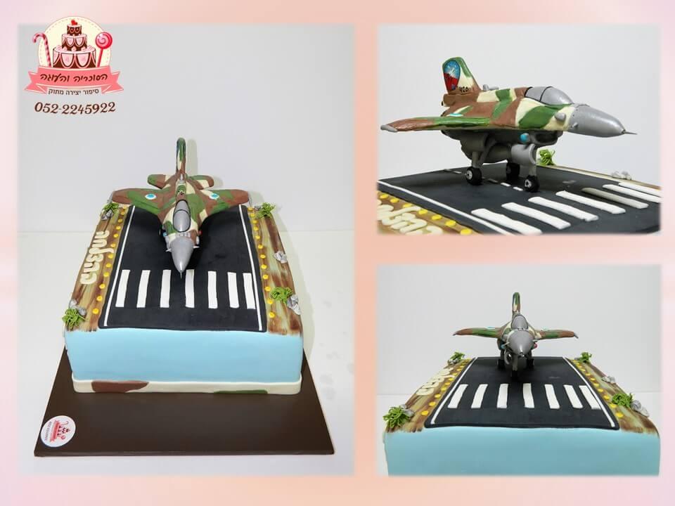 עוגת מטוס קרב F16, עוגות מעוצבות למבוגרים מבצק סוכר - דורית יחיאל