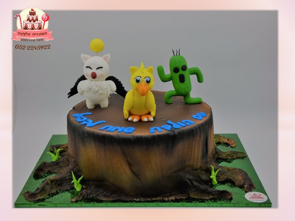 עוגה מעוצבת final fantasy