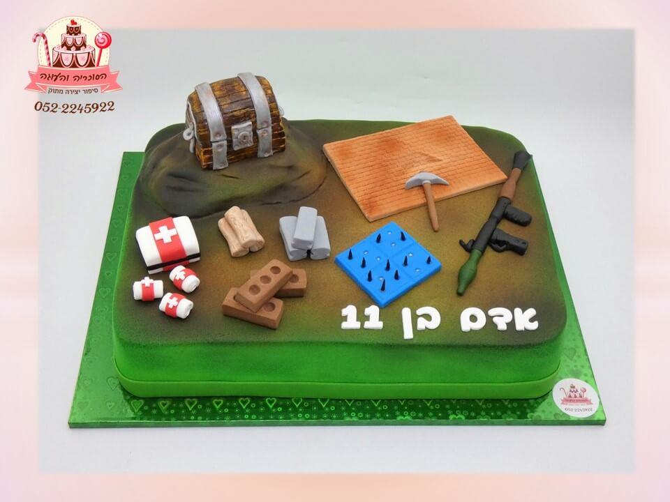 עוגה מעוצבת משחק fortnite