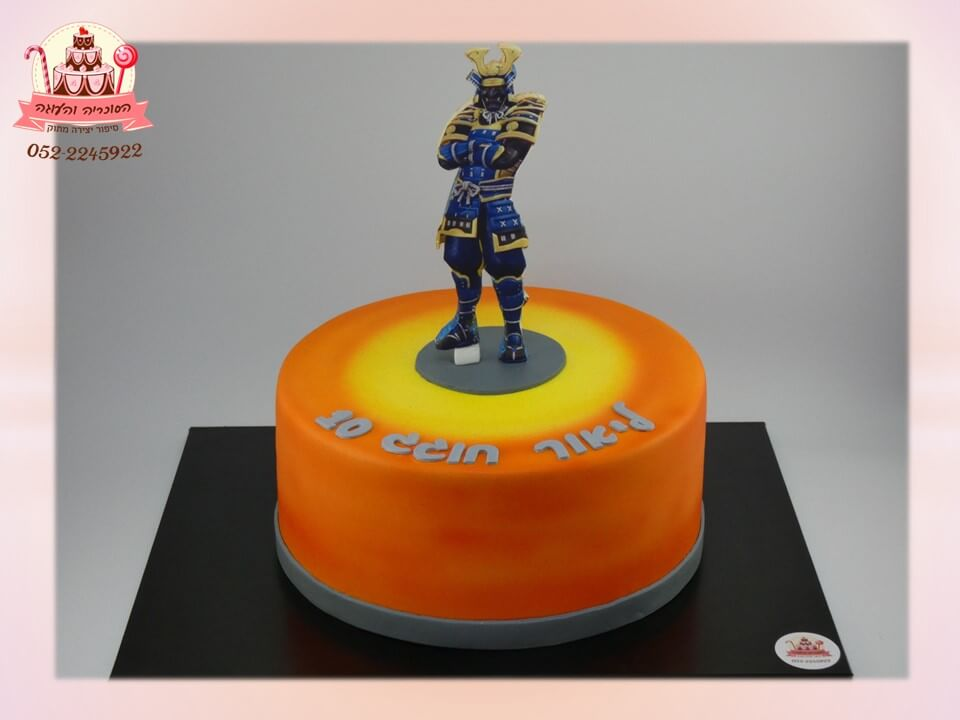 עוגה מעוצבת תמונה עומדת פורטנייט