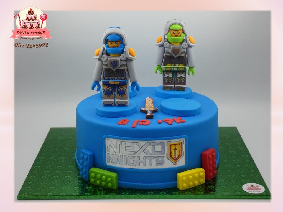 עוגה מעוצבת NEXO לגו