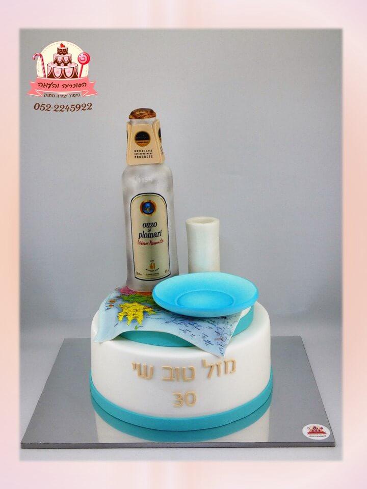 עוגת יום הולדת בסגנון יווני