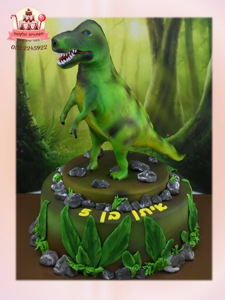 עוגה מעוצבת דינוזאור טי רקס