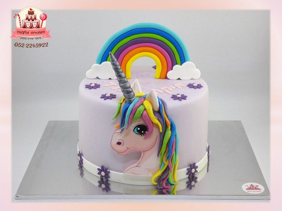 עוגות לבנות, עוגת חד קרן מבצק סוכר ליום הולדת לבנות