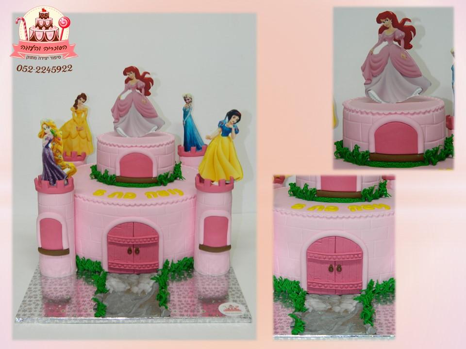 עוגת נסיכות בצורת טירה