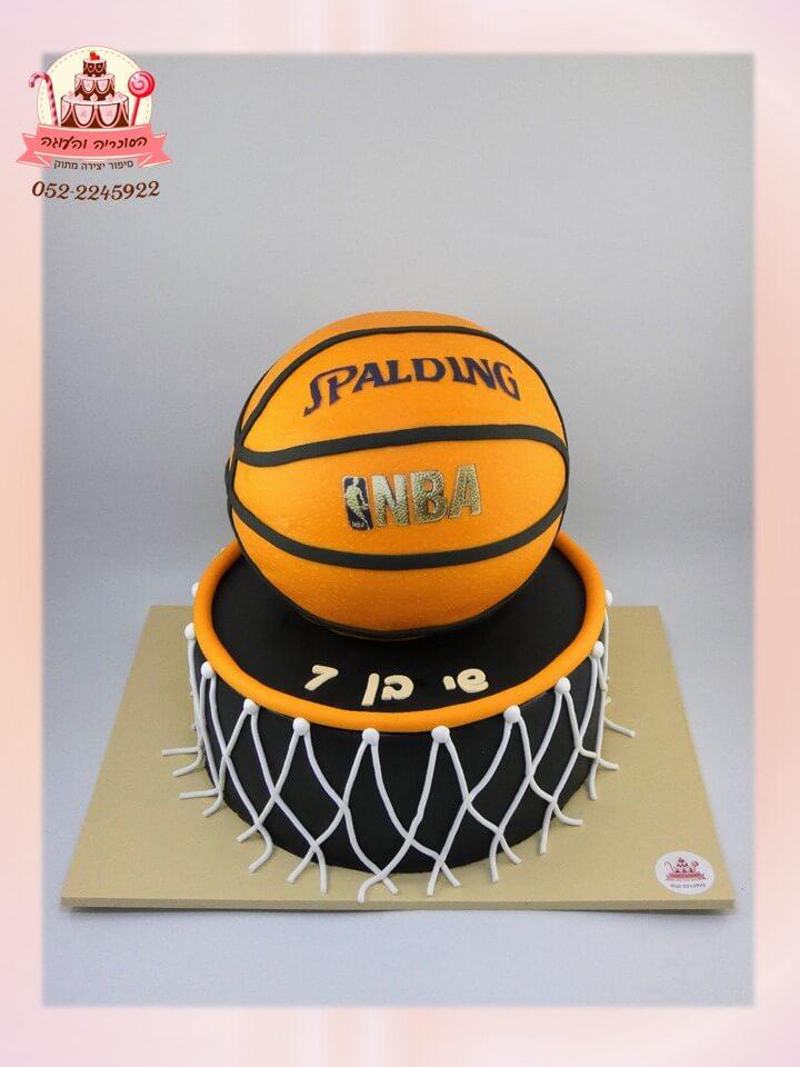 עוגת כדורסל 2 קומות, איך מתאימים את האריזה לעוגה: עיצוב אריזות לעוגה | הסוכריה והעוגה