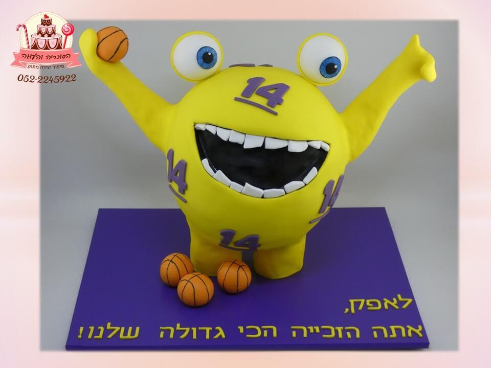 עוגה מפלצת לוטו גרסת ילדים לשחקן כדורסל