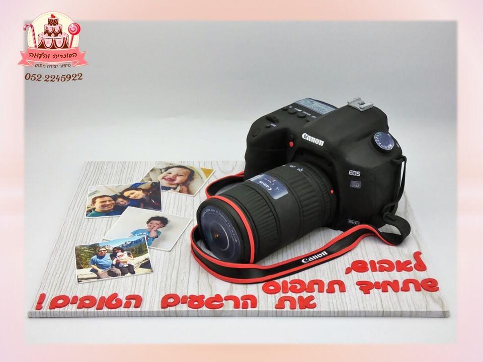 עוגה מעוצבת בצורת מצלמת קנון CANONA - דורית יחיאל