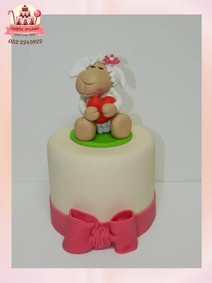 עוגה מעוצבת ניקי הכבשה