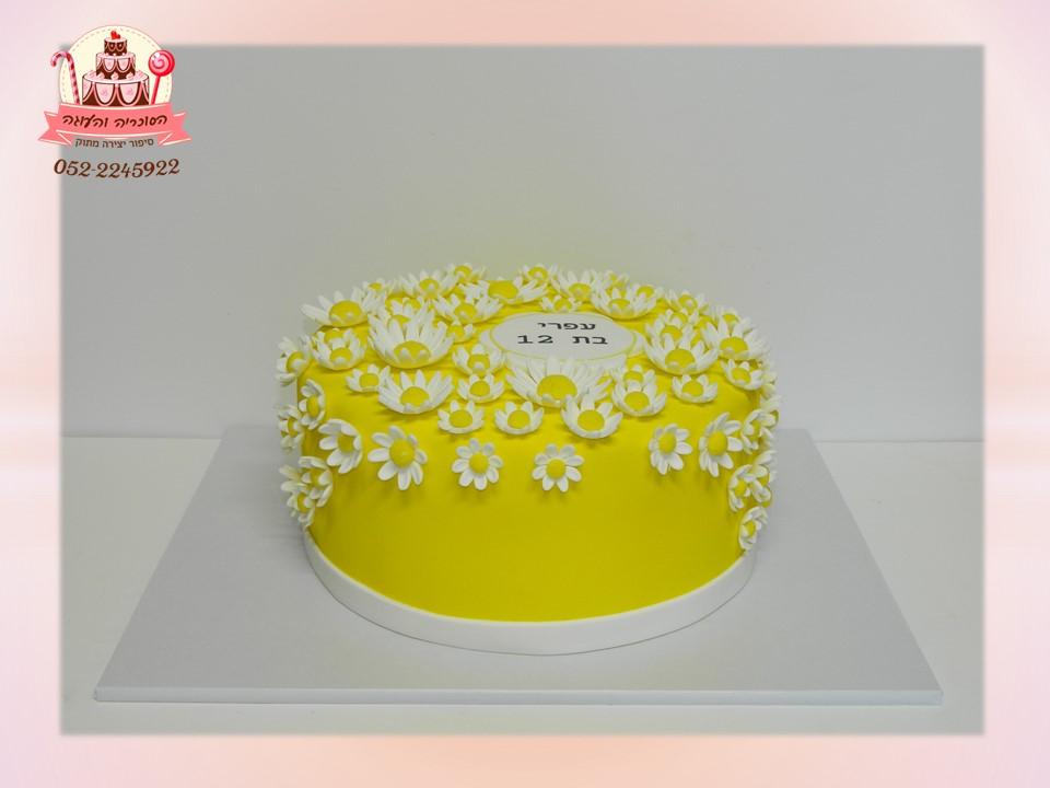 עוגת בת מצווה פירחונית, עוגת פרחים מיוחדת - הסוכריה והעוגה