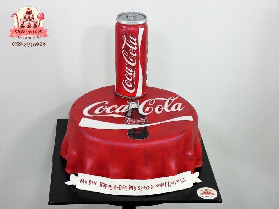 עוגה מעוצבת בעיצוב קוקה קולה | העוגה והסוכריה דורית יחיאל