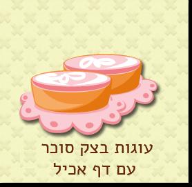 עוגות בצק סוכר עם דף אכיל