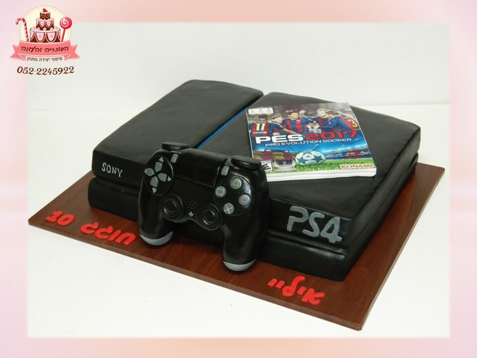 עוגה מעוצבת בצורת פליסטיישן, עוגות יוקרה - דורית יחיאל