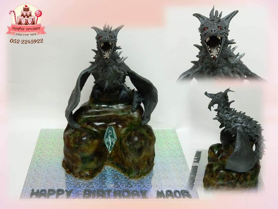 עוגה מעוצבת דרקון, עוגות יום הולדת למבוגרים | הסוכריה והעוגה - דורית יחיאל