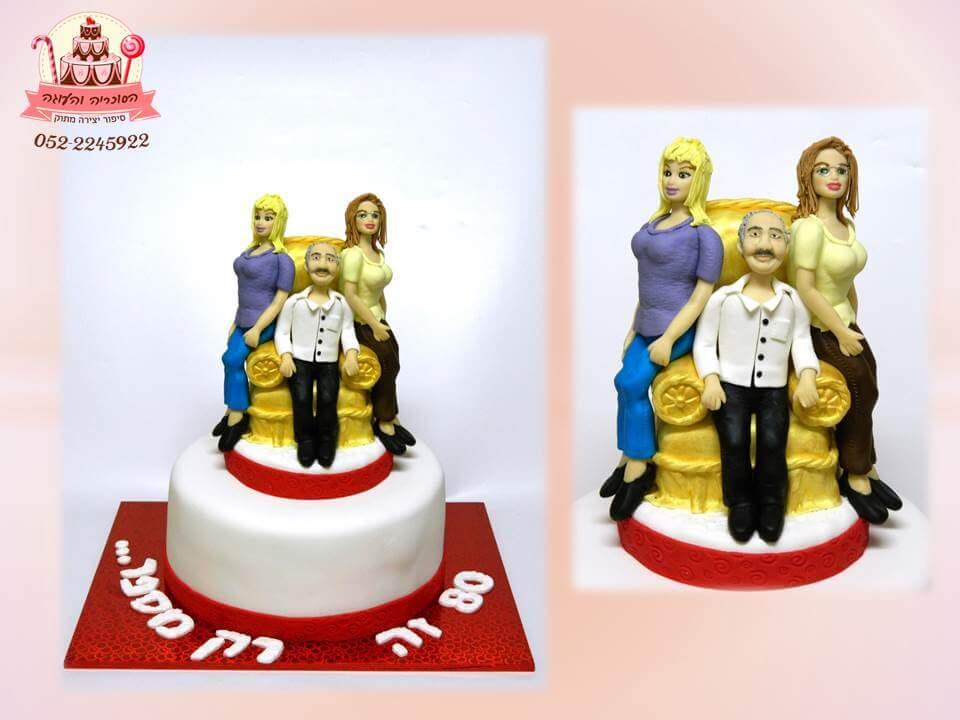 עוגה מעוצבת דמויות, עוגות יום הולדת למבוגרים | הסוכריה והעוגה - דורית יחיאל