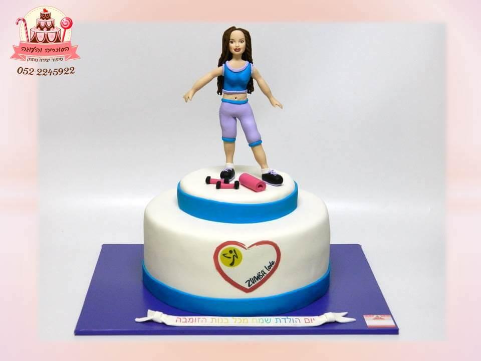 עוגה מעוצבת למדריכת זומבה, עוגות יום הולדת למבוגרים | הסוכריה והעוגה - דורית יחיאל