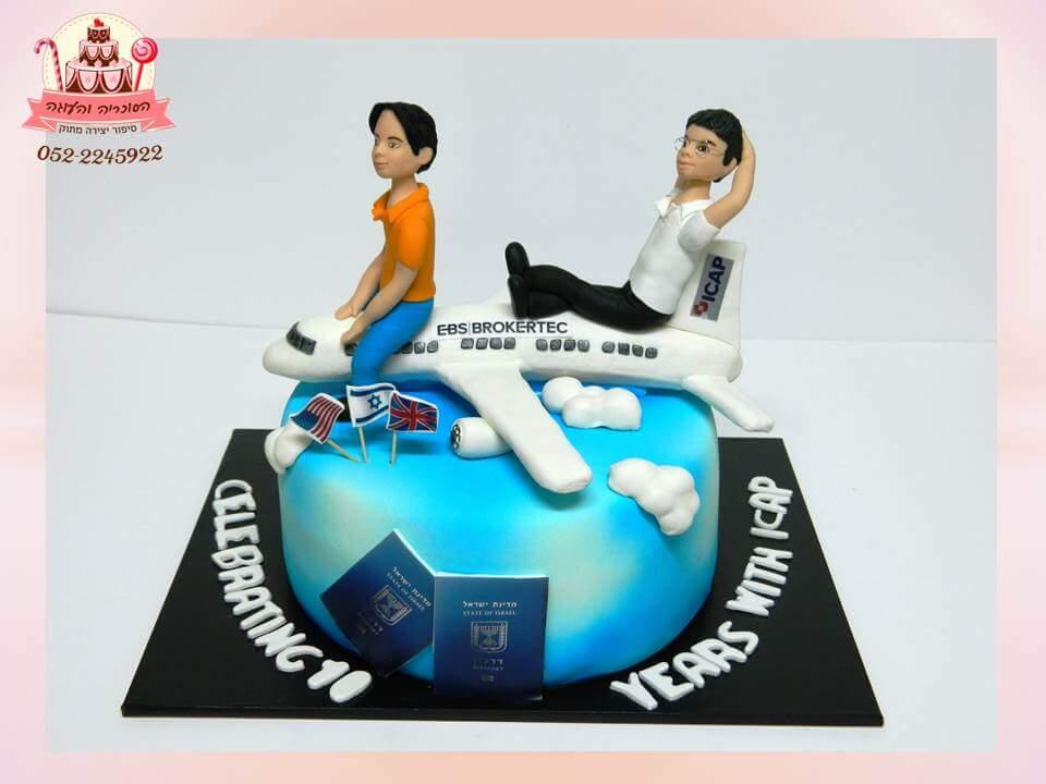 עוגה מעוצבת לעובדי חברה, עוגת יום הולדת למבוגרים, מעוצבות בצק סוכר | הסוכריה והעוגה - דורית יחיאל