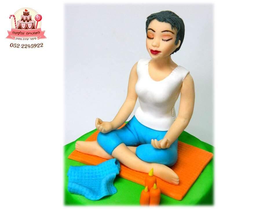 עוגה מעוצבת יוגה מקרוב, עוגות יום הולדת למבוגרים | הסוכריה והעוגה - דורית יחיאל