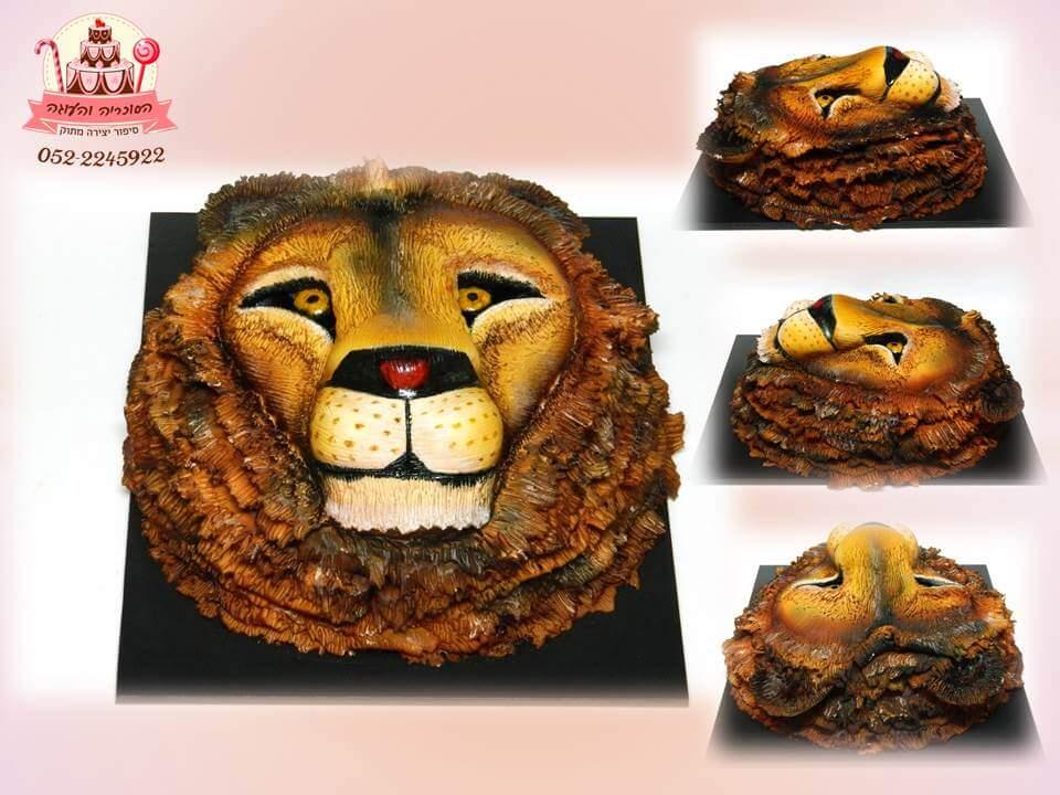 עוגת ראש אריה (אייבראש), עוגת יום הולדת למבוגרים, מעוצבות בצק סוכר | הסוכריה והעוגה - דורית יחיאל