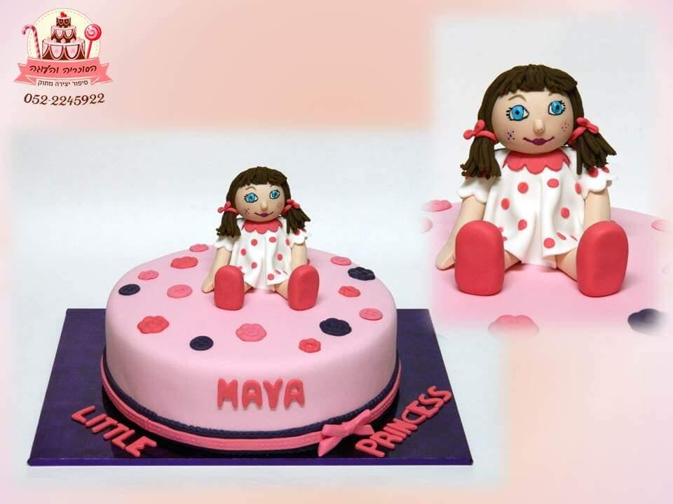 עוגת יום הולדת בובת סמרטוט