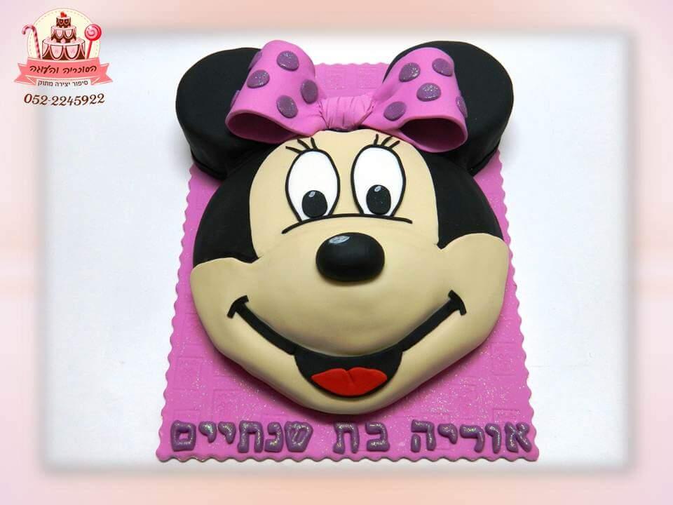 עוגת יום הולדת ראש מיני מאוס