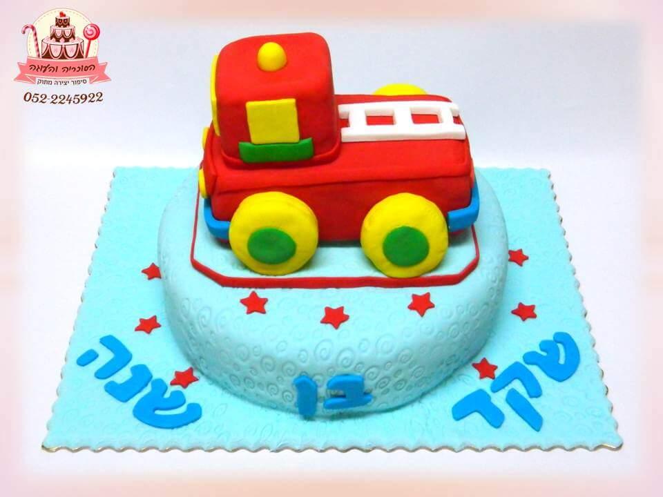 עוגת יום הולדת משאית צעצוע