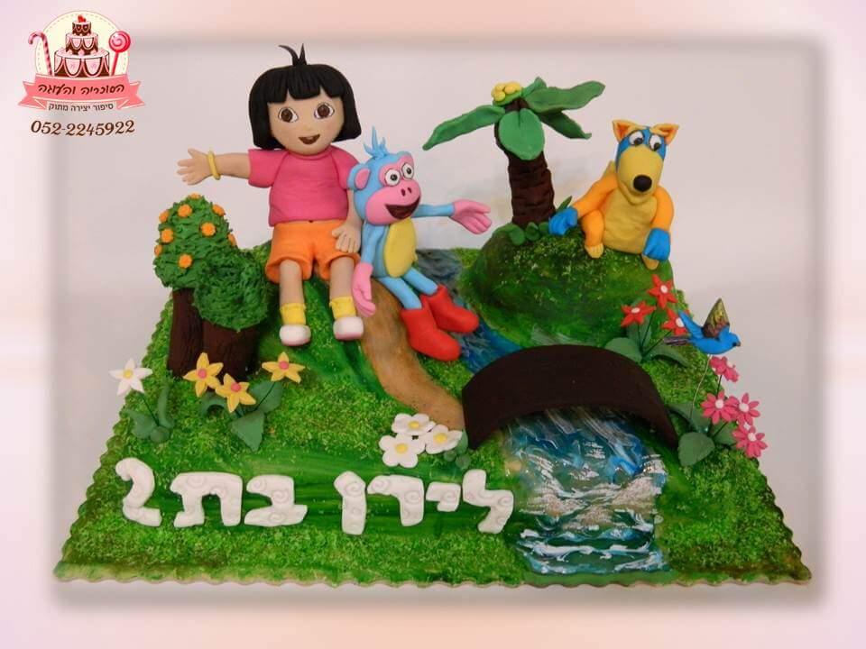 עוגה מעוצבת דורה וחברים