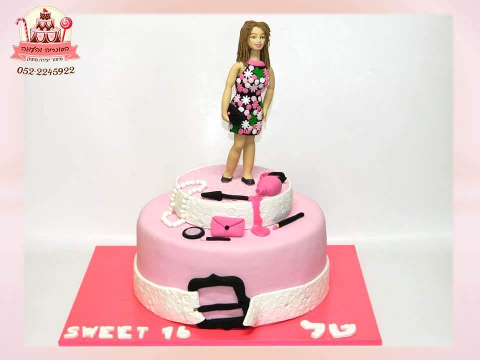 עוגה מעוצבת לבת מצווה חובבת אופנה