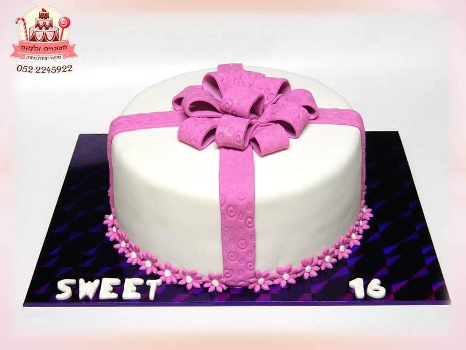 עוגת בת מצווה מעוצבת מתנה