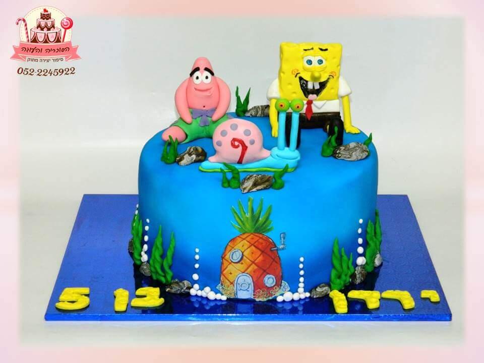 בוב ספוג (ירדן), עוגות יום הולדת לבנים, מעוצבות בצק סוכר | הסוכריה והעוגה - דורית יחיאל