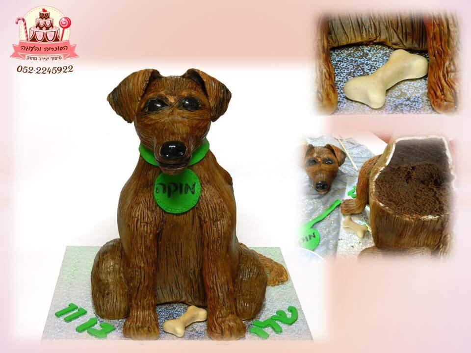 עוגה בצורת כלב, עוגות יום הולדת לבנים, מעוצבות בצק סוכר | הסוכריה והעוגה - דורית יחיאל