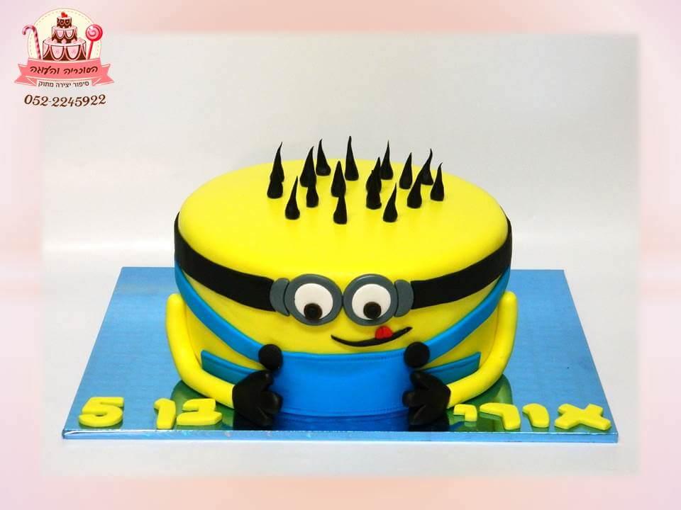 עוגת יום הולדת מניונים, עוגות יום הולדת לבנים מבצק סוכר - דורית יחיאל