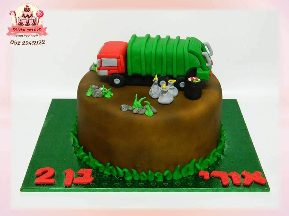 עוגת משאית, עוגות יום הולדת לבנים, מעוצבות בצק סוכר | הסוכריה והעוגה - דורית יחיאל