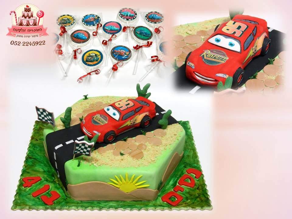 עוגת ספידי וסוכריות, עוגות יום הולדת לבנים, מעוצבות בצק סוכר | הסוכריה והעוגה - דורית יחיאל