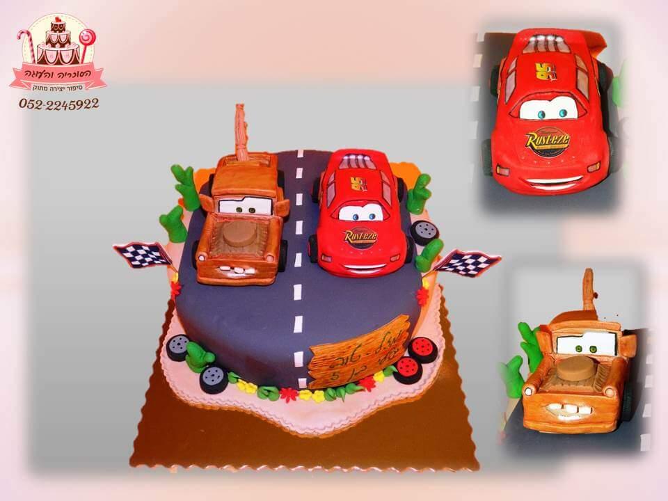 עוגה מעוצבת ספידי, עוגות יום הולדת לבנים, מעוצבות בצק סוכר | הסוכריה והעוגה - דורית יחיאל