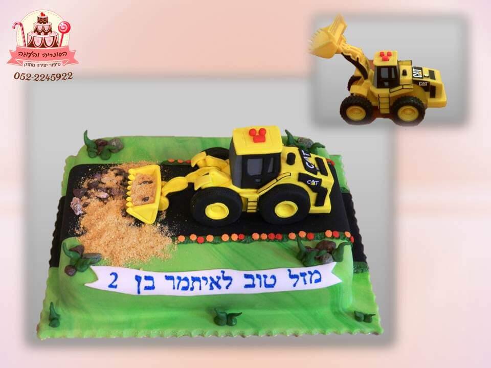 עוגה מעוצבת טרקטור, עוגות יום הולדת לבנים, מעוצבות בצק סוכר | הסוכריה והעוגה - דורית יחיאל