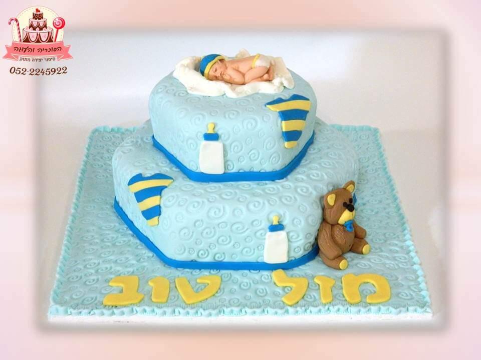 עוגה מעוצבת לברית שתי קומות