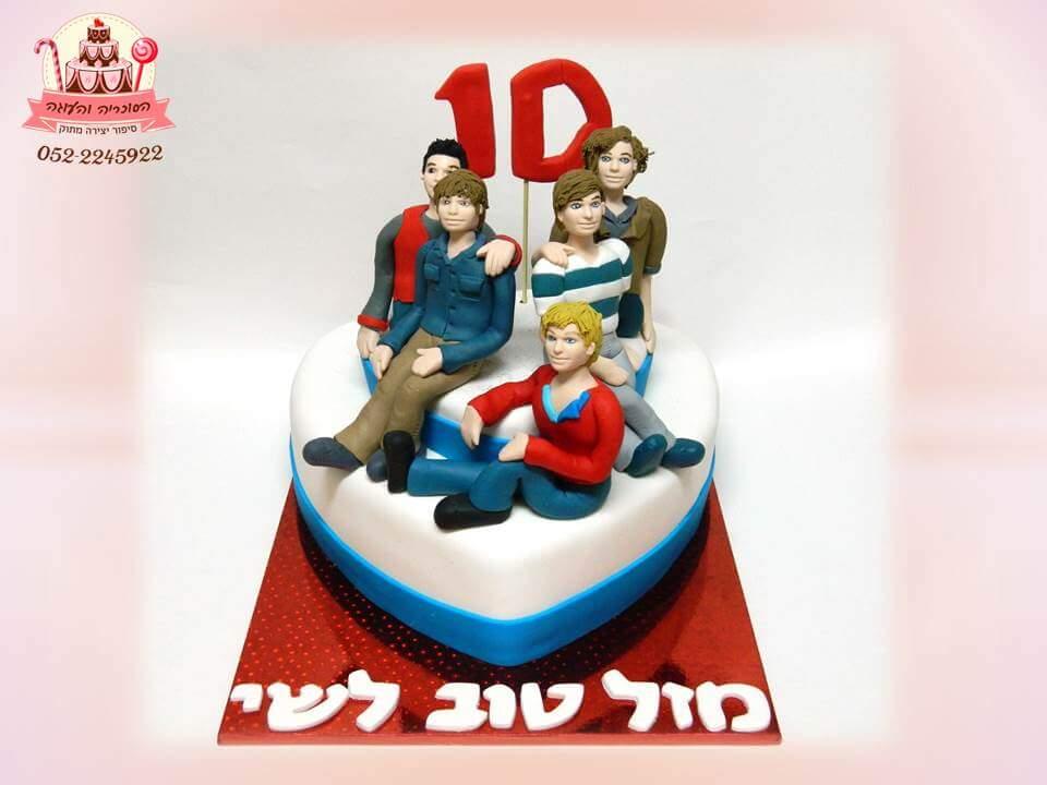 עוגת יום הולדת לבנות, עוגת וואן דיירקשיין מעוצבת בבצק סוכר | הסוכריה והעוגה - דורית יחיאל